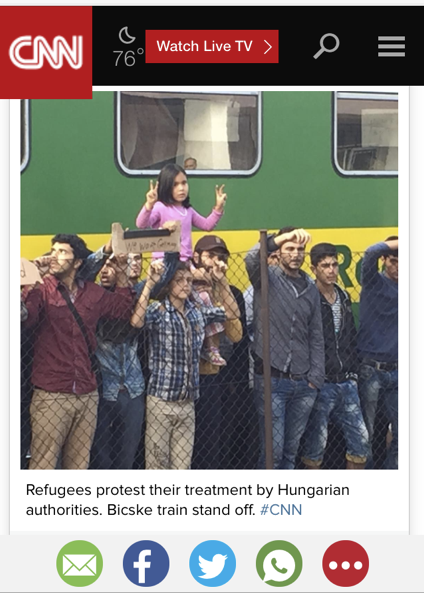 Syrian Refugees Train Hungary