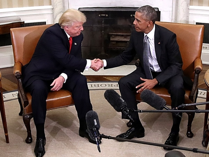 Obama with Trump